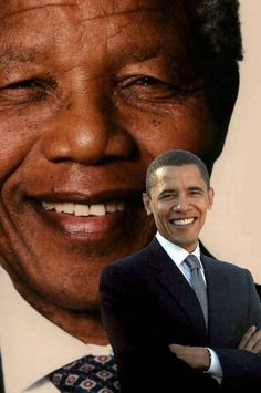 barack obama and nelson mandela   ... di MrNero09 / Album / Foto profilo / Nelson Mandela e Barack Obama