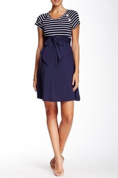 Bethany Button Detail Nautical Style Dress by Momo Maternity on Stylish Maternity, Maternity Style, Maternity Fashion, Nautical Style, Nautical Fashion, Navy Marine, Fashion Kids, Dresses For Work, Buttons
