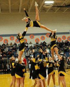 Panther Valley Varsity Cheerleaders - Kick Twist Pyramid