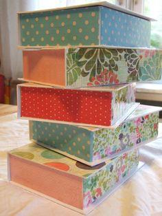 Pretty Decoupage Boxes - bjl