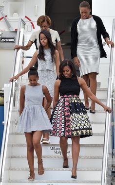 Michelle, Malia & Sasha Obama?s Fashion Tour Continues in Milan?See Their Latest Looks! | E! Online Mobile