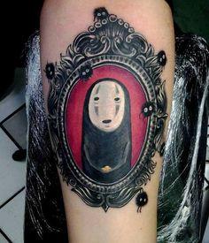 You're Thinking of Gettin' Inked? Just Take A Look At These, 12 Fantastic Tattoos from Hayao Miyazaki's Universe! Tatuaje Studio Ghibli, Studio Ghibli Tattoo, Anime Tattoos, Body Art Tattoos, Cool Tattoos, Tatoos, Tattoo Art, Crazy Tattoos, Sketch Tattoo