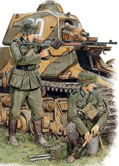 German infantry in France, 1940.  illus, by Volstad