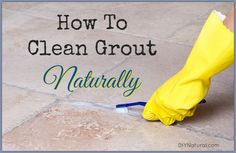 How to Clean Grout, from comments: I too clean houses for a living,I have a house that is all marble tiles and acres of grout!!!! I use peroxide. Spray it out of a bottle and let it sit, then I use my steam mop,works very well, and it's not too harsh,and I'm not on my hands and knees!!!
