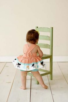Baby Romper with Bloomers