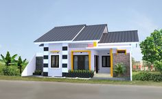 Rumah Memanjang ke Samping 12 x 10 Meter Milik Bapak Febrianto - Jasa Desain Rumah Art Easel, Home Modern, Small House Design, New Home Designs, House Painting, Home Fashion, House Plans, Sweet Home, Shed