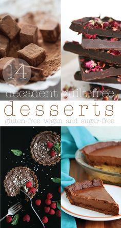 14 Decadent Guilt-free Desserts : gluten-free, vegan and sugar-free | Pure Ella