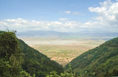 View of Ngorongoro Crater.  Travel to Africa with Nomad Adventure Tours on your next holiday.