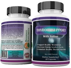 Amazon.com: Thyroid Support Supplement ★ Complex, Effective, Natural Vegetarian Blend for Weight Loss, Hypothyroidism, Energy With Iodine, Bladderwrack, L-Tyrosine, Ashwaganda & More ★ USA Made ★ 100% Guarantee: Health & Personal Care