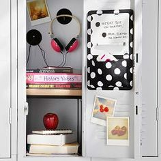 Organize your locker make it unique with Pottery Barn Teen's locker decorations. Find locker shelves and locker accessories to give your locker a boost of personality and style. Locker Shelves, Diy Locker, Locker Stuff, Cute Locker Ideas, Teen Luggage, School Locker Decorations, Middle School Lockers, School Locker Organization, Locker Designs