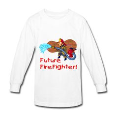Future Firefighter Kid's Long Sleeve T-Shirt. PersonalizedSouvenirs.com.