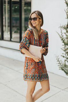 Printed Shift Dress | LivvyLand