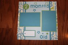 12 x 12 scrapbook layout baby boy single page by creationsbycindyg, $6.50