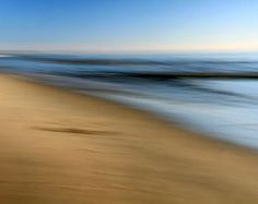 Abstract Seascape Brown and Blue Beach Decor by hockmanphotography