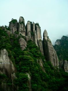 Sanqingshan – located in China. Sanqingshan is a sacred place, used by Taoists for consideration, and believed to lead to immortality. It is hidden in mists for 200 days of the year.