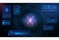 Futuristic interface HUD design, infographic elements like scanning graph or waves, Sci-fi futuristic hud dashboard display virtual reality technology screen - Finger Scan, Futuristic Background, Design Elements, Ui Design, Graphic Design, Corporate Brochure, Vector File, Dark Colors, User Interface