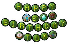 MINECRAFT  Birthday Party Banner - Digital - Printable  (GB-013).
