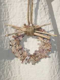 Rustic Ornaments Upcycled Puzzle Pieces by fluffstuffandpuff, $29.00