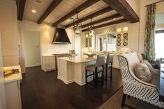Kitchen Ceiling Beams - Cottage - kitchen - Southern Living