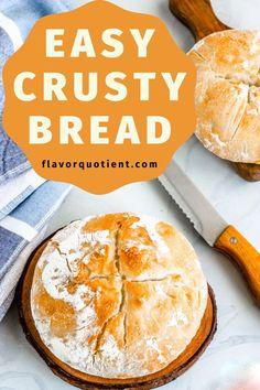 If you enjoy the bread making process as much as I do and can't get over the awesomeness of the freshly-baked-bread-aroma, then this super easy homemade crusty bread recipe is for you! | crusty bread recipe | easy crusty bread recipe | quick crusty bread | homemade crusty bread | no knead crusty bread | crusty bread dutch oven | #crustybread #homemadebread #breadrecipe #breadbaking