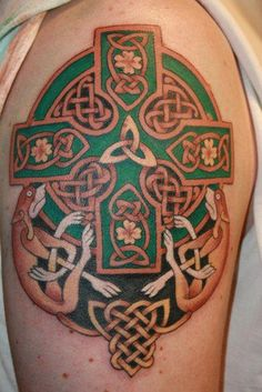 Celtic Knots and Cross Tattoo by Scottie Deville