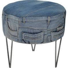 love this idea......could do to any kind of footstool......!!