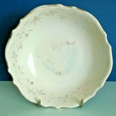 Recently found in Brittany. A well-used and faded porcelain dish. One small nibble on the outside under the rim. Dresden China, Dresden Porcelain, Royal Crown Derby, Jam Jar, Girl And Dog, Jar Lids, French Vintage, Brittany, Dish