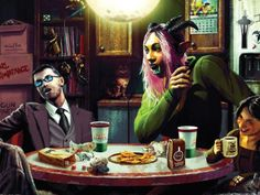 Cyberpunk, Shadowrun, Fantasy, Joker, Fictional Characters, Cooperative Games, Tech Gadgets, Pretend Play, Heroes