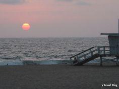 Santa Monica sunset, California - Need LA tips? Visit the blog: http://www.ytravelblog.com/los-angeles-travel-tips/