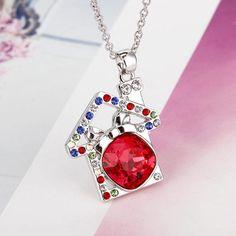 Halskette mit Zuckerhaus-Swarovski®-Elements-Anhänger - Jetzt reduziert bei Lesara