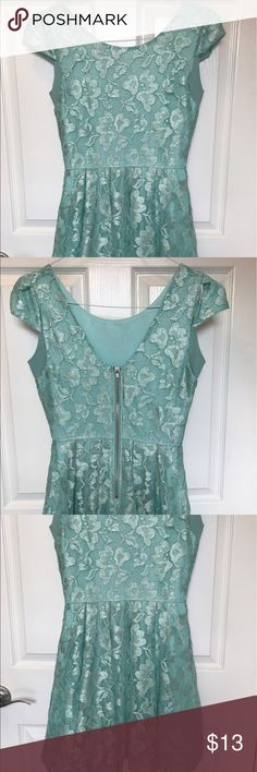 Delias dress Delias dress - teal, lace, great condition Delias Dresses Mini