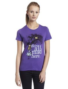 Amazon.com: Impact Women's Alice In Wonderland We're All Mad Here T-Shirt: Clothing