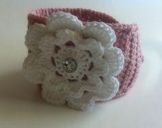 Crochet Flower Headwrap