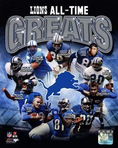 Detroit Lions All Time Greats Composite at FramedArt.com