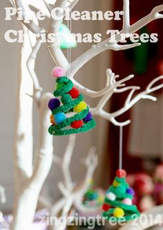 Pipe Cleaner Christmas Tree Decoration