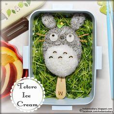 Karenwee's Bento Diary: Bento2014#Jul08~Totoro Ice Cream Bento