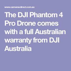The DJI Phantom 4 Pro Drone comes with a full Australian warranty from DJI Australia