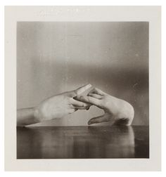 Romantic Handscape--The Courtship of Thing.  Hans Bellmer Untitled (Hands Triptych) 1933-34 Vintage gelatin silver print 2 1/2 x 2 1/2 ...