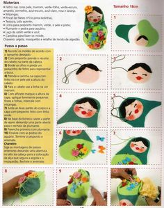 Free Tutorial on how to make a Felt Matryoshka (Russian Nesting Doll)