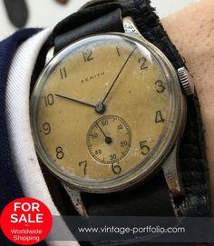 #zenith #zenithwatches 37 mm Oversize Jumbo Vintage Zenith Watch
