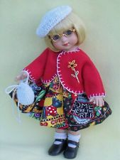 "Made With Mary Engelbreit Fabric Doll Dress & Coat For Ann Estelle 10"" Tonner"