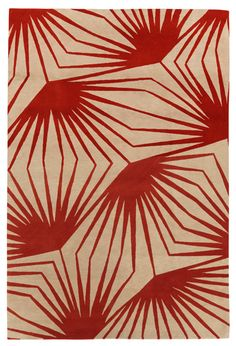Stingray Red Rug by Alexandra Champalimaud