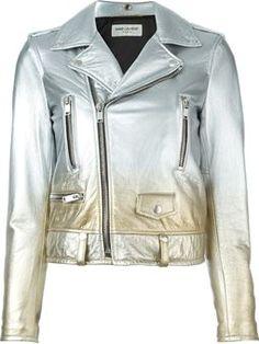 gradient biker jacket