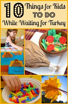 10 Things for Kids to do While Waiting for Turkey // Ever feel like patience is in order on Thanksgiving Day? Here are some fun themed crafts for the little ones. #thanksgiving #kidsactivities
