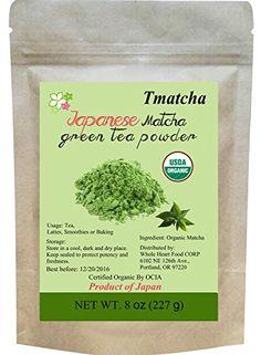 Tmatcha Organic Japanese Matcha Green Tea Powder USDA Organic Certification Culilary Grade Gluten Free and Vegan 8 oz(227 g) * Want additional info? Click on the image.