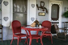 cute country decorated porch