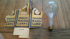 Vintage GE General Electric Mazda Edison Light Bulb Lamp 200 watt 115 V PS-30 C