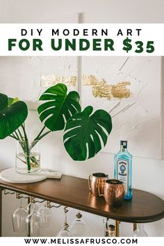 This DIY art is perfect for a small city apartment Fun Diy Crafts, Diy Craft Projects, Home Crafts, Diy Home Decor, Hanging Artwork, Diy Artwork, Artwork Ideas, Dollar Store Crafts, Diy Canvas