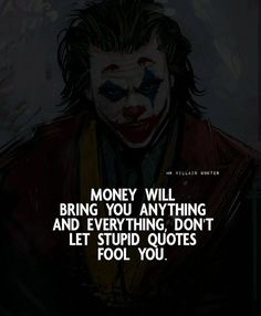 Joker Qoutes, Best Joker Quotes, Badass Quotes, Life Lesson Quotes, Good Life Quotes, Inspiring Quotes About Life, Stupid Quotes, Real Quotes, Strange Quotes