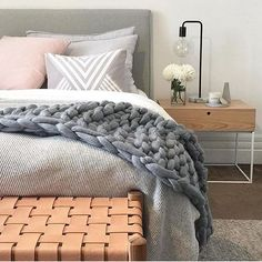 Crushing on this cosy bedroom styled by In case you missed… Scandi Bedroom, Cosy Bedroom, Dream Bedroom, Bedroom Decor, Bedroom Ideas, Home Interior, Interior Design, Ideas Hogar, Bedroom Styles